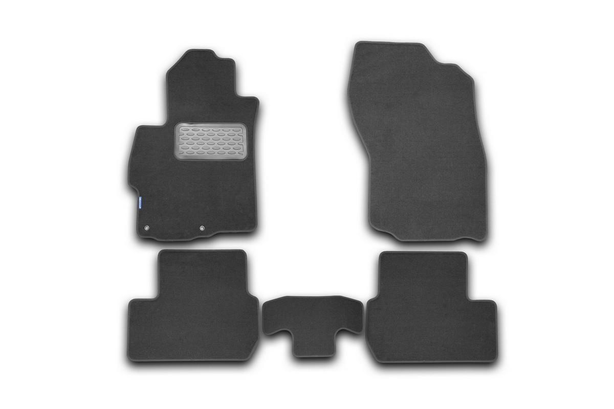 Набор автомобильных ковриков Klever для Mitsubishi Lancer X 2007-, седан, в салон, 5 шт комплект ковриков в салон автомобиля klever premium для audi a4 седан 2007