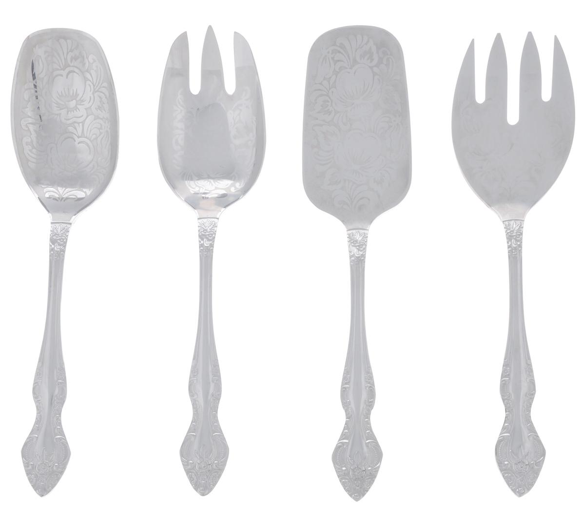 """Набор столовых приборов """"Тройка"""", 4 предмета"""