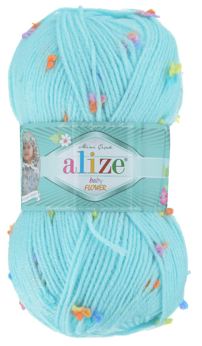 Пряжа для вязания Alize Baby Flower, цвет: светло-голубой, розовый, оранжевый (5384), 210 м, 100 г, 5 шт582006_5384Alize Baby Flower - это фантазийная теплая и мягкая пряжа, изготовленная из 94% акрила и 6% полиамида. Такая пряжа идеально подойдет для изготовления всевозможных детских изделий (жилетов, платьиц, а также подходит для вязания шапок, шарфов, снудов). Изделия практичны в носке и уходе. Рекомендуемый размер спиц 3,5-4,5 мм и крючка 2-3 мм. Комплектация: 5 мотков. Состав: 94% акрил, 6% полиамид.