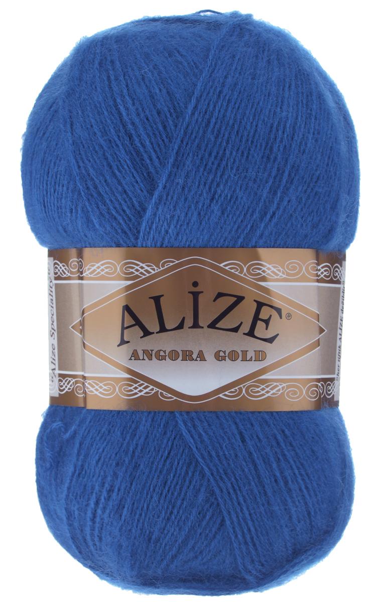 """Пряжа для вязания Alize """"Angora Gold"""", цвет: синий (636), 550 м, 100 г, 5 шт"""