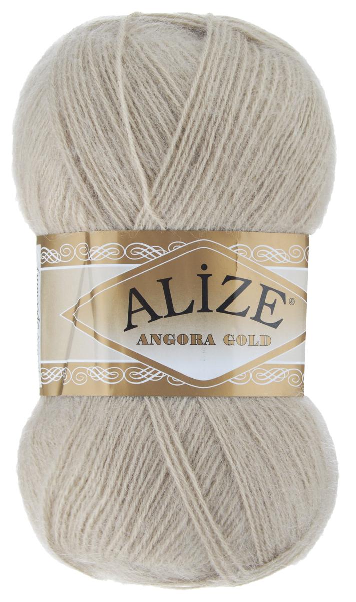 """Пряжа для вязания Alize """"Angora Gold"""", цвет: кофе с молоком (543), 550 м, 100 г, 5 шт"""