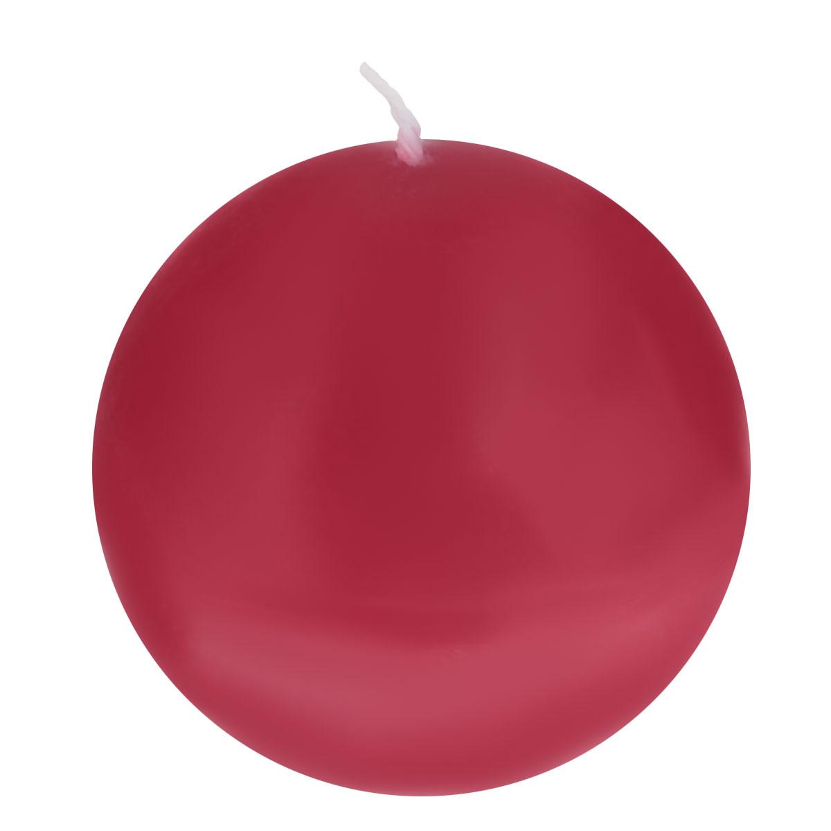 Свеча декоративная Proffi Шар, цвет: бордовый, диаметр 7,5 см свеча декоративная proffi шар цвет белый диаметр 7 5 см