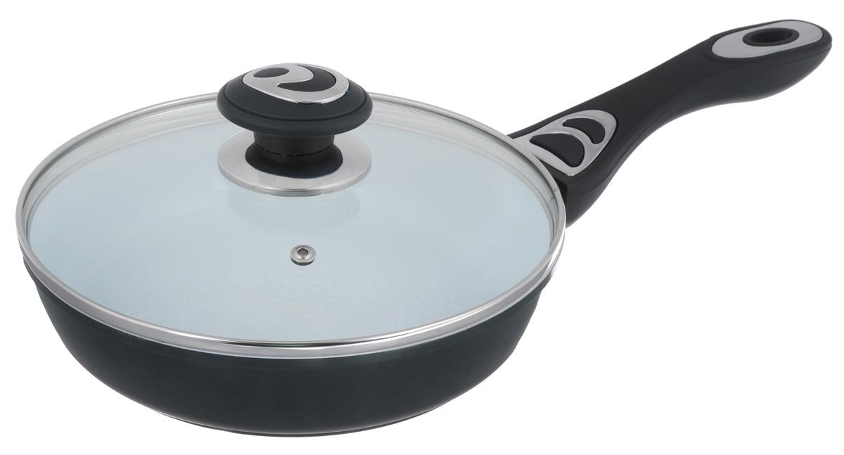 """Сковорода """"Bohmann"""" с крышкой, с керамическим покрытием, цвет: темно-зеленый. Диаметр 22 см. 7512BH"""