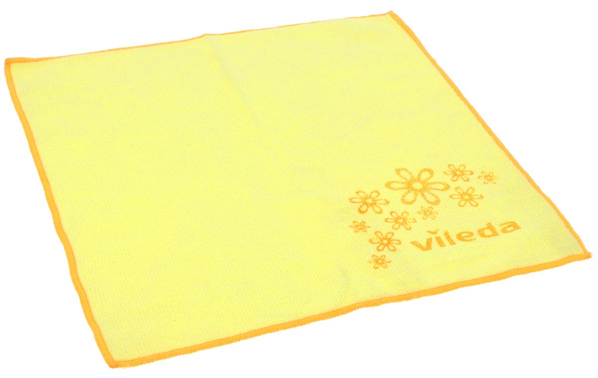 Салфетка универсальная Vileda Микрофибра, цвет: желтый, 32 х 32 см салфетка golden snail микрофибра универсальная 141 gs0322 40 х 60 см