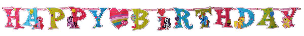 Веселая затея Гирлянда-буквы Happy Birthday My Little Pony цена