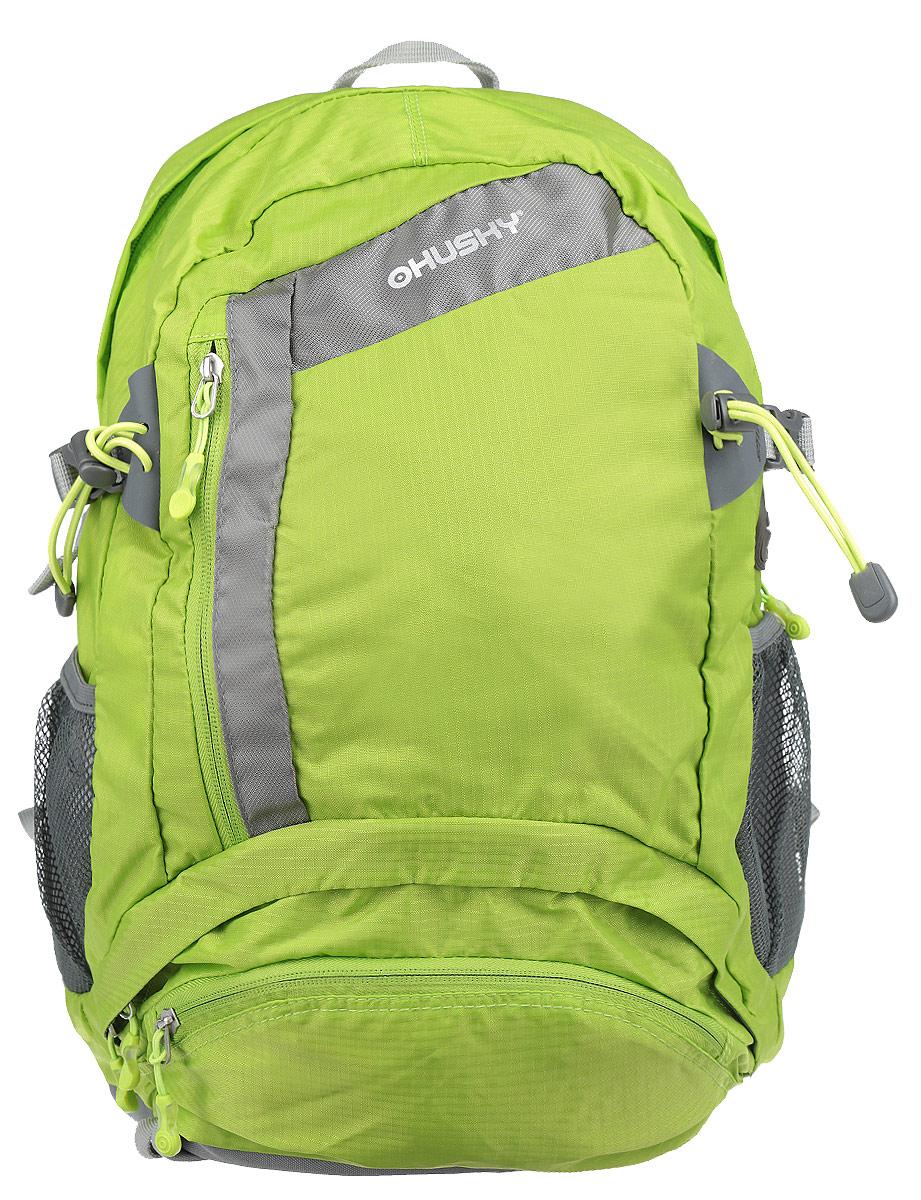 Рюкзак городской Husky Stingy 28L, цвет: зеленый, серый рюкзак городской kingcamp peach 28l цвет красный серый