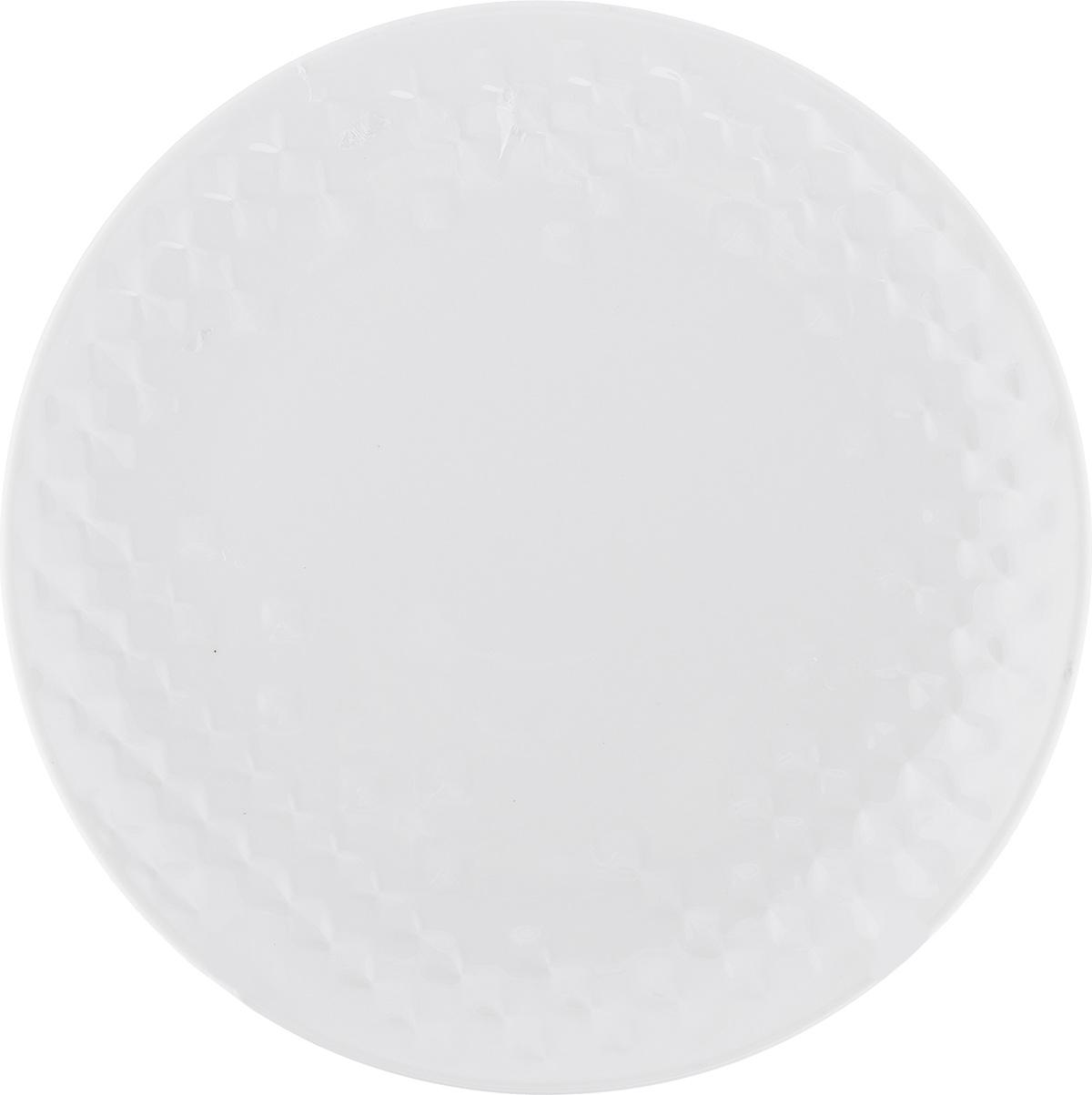 "Тарелка десертная Walmer ""Sapphire"", цвет: белый, диаметр 20,5 см"