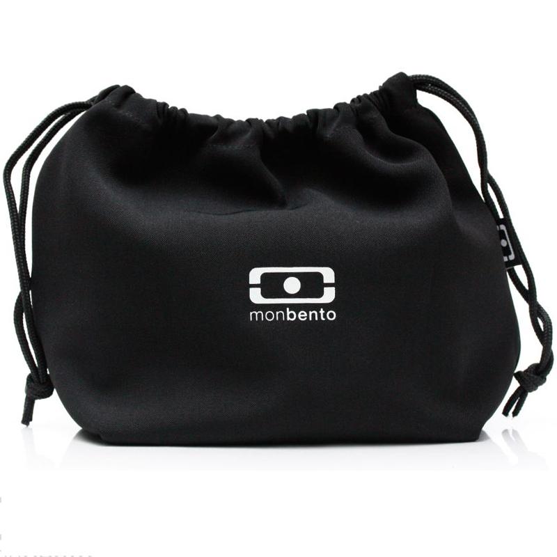 Мешочек для ланча Monbento Pochette, цвет: черный, 28 х 20 х 12 см monbento мешочек для ланча mb pochette 19x20x17 см черный белый 1002 02 001 monbento
