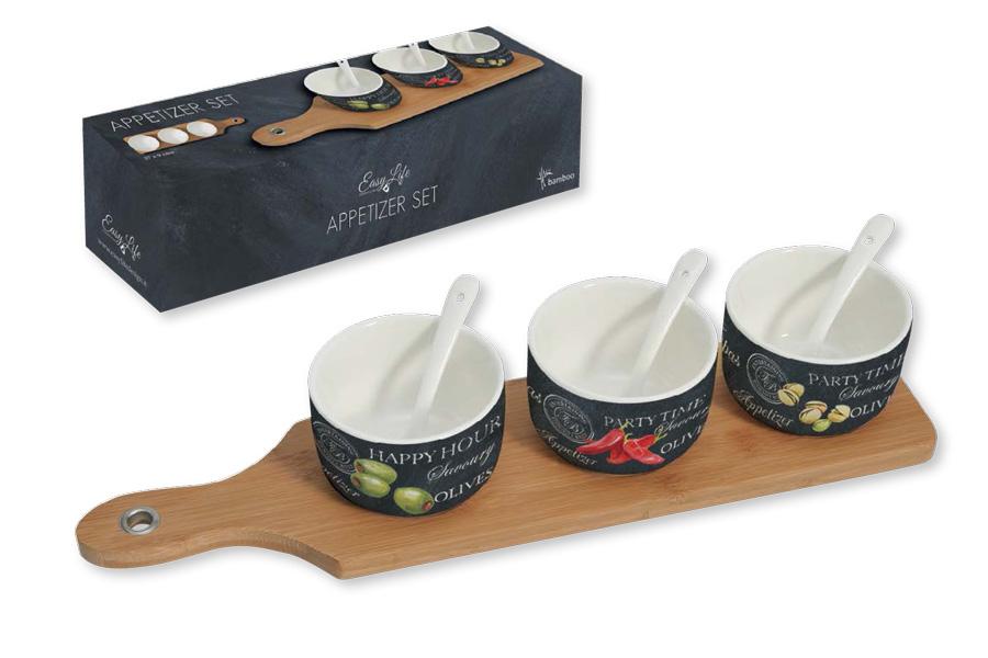 Набор посуды для закусок Nuova R2S, 7 предметов r2s