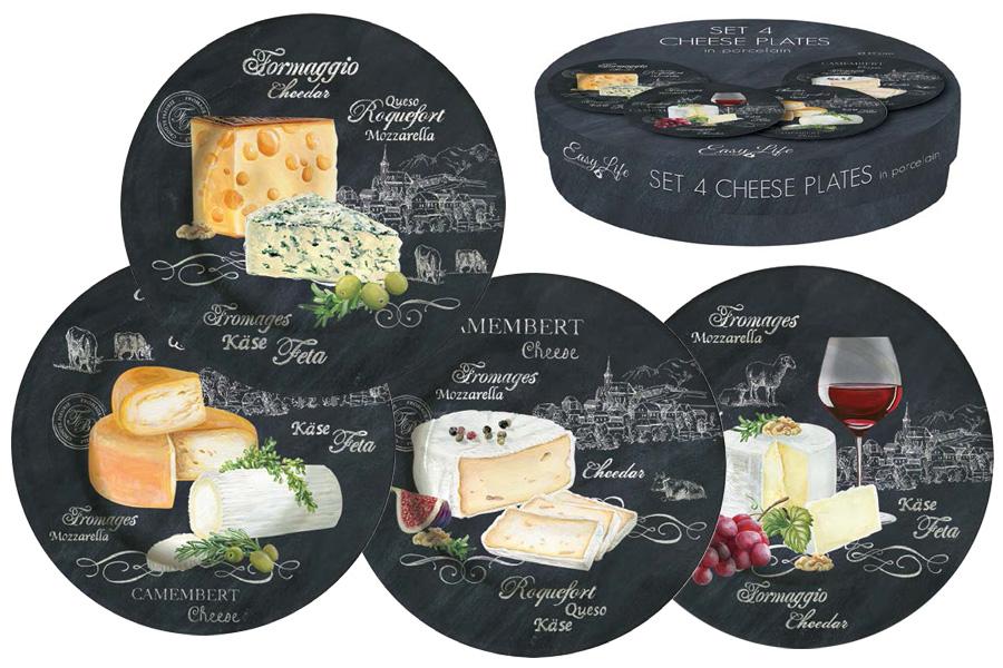 """Набор десертных тарелок Nuova R2S """"Мир сыров"""", диаметр 19 см, 4 шт"""