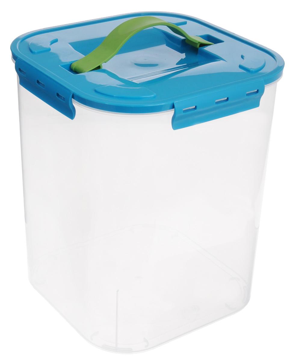 Контейнер для хранения Idea, цвет: бирюзовый, прозрачный, 10 л контейнер для хранения idea прямоугольный цвет салатовый прозрачный 8 5 л