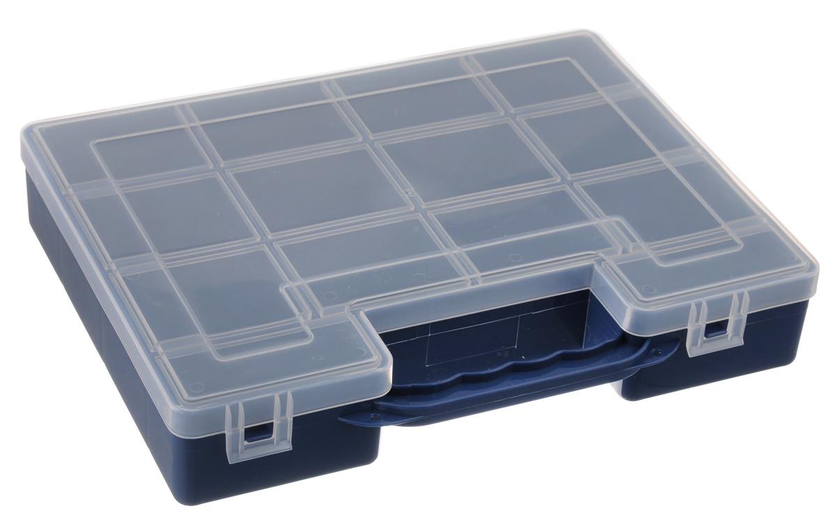 Органайзер для инструментов Idea, цвет: синий, 27,2 см х 21,7 см х 5 см органайзер кухонный idea цвет салатовый 19 х 25 х 14 5 см