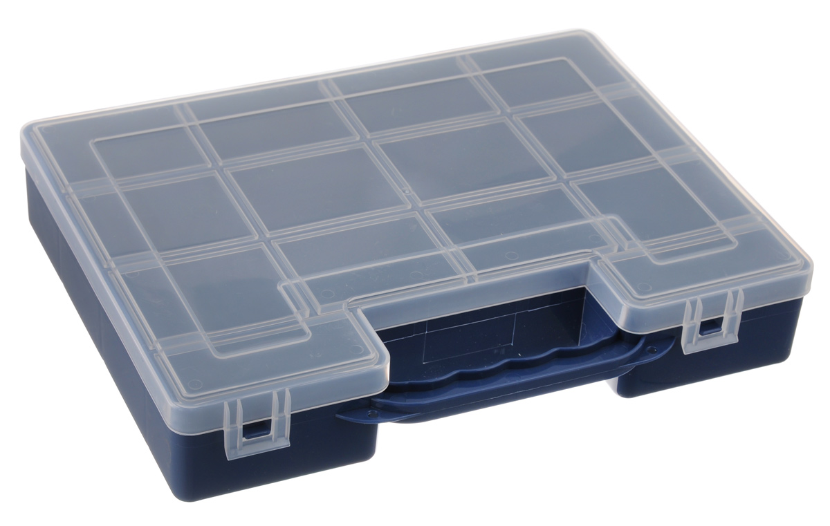 Органайзер для инструментов Idea, цвет: синий, 27,2 см х 21,7 см х 5 см органайзер для специй idea цвет белый 6 х 16 х 16 см