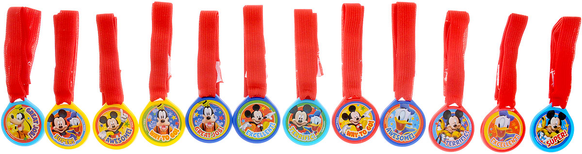 Веселая затея Медаль Disney Микки Маус12 шт корзина для игрушек disney микки маус и его друзья 2732136