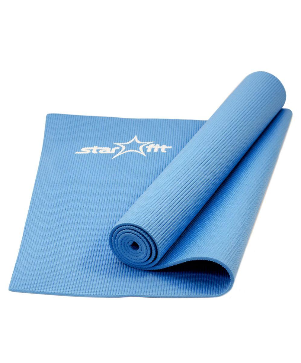 Коврик для йоги Starfit FM-101, цвет: синий, 173 х 61 х 0,5 см цена