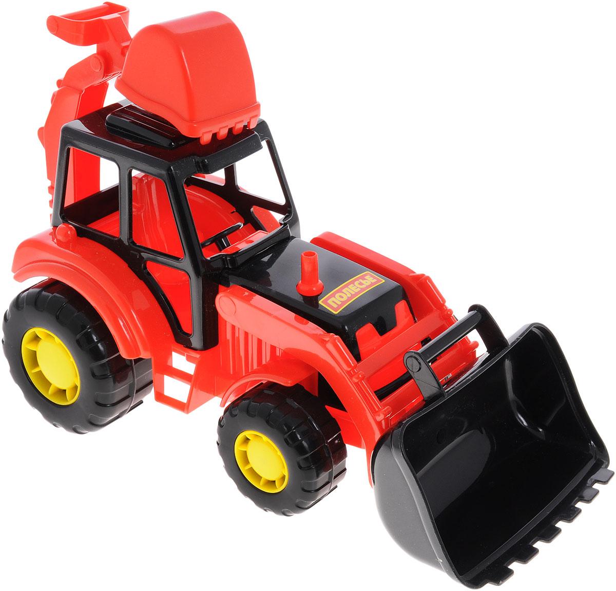 все цены на Полесье Трактор-экскаватор Мастер, цвет в ассортименте онлайн