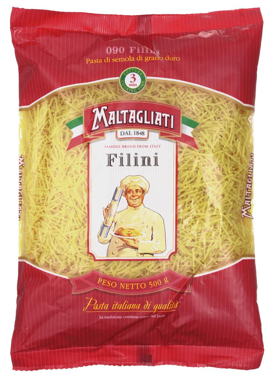 Maltagliati Filini Паутинка макароны, 500 г