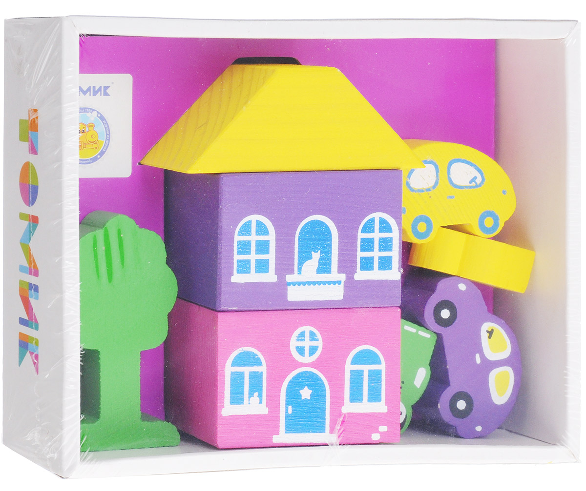 Томик Конструктор Цветной городок цвет фиолетовый конструктор для малышей томик веселый городок