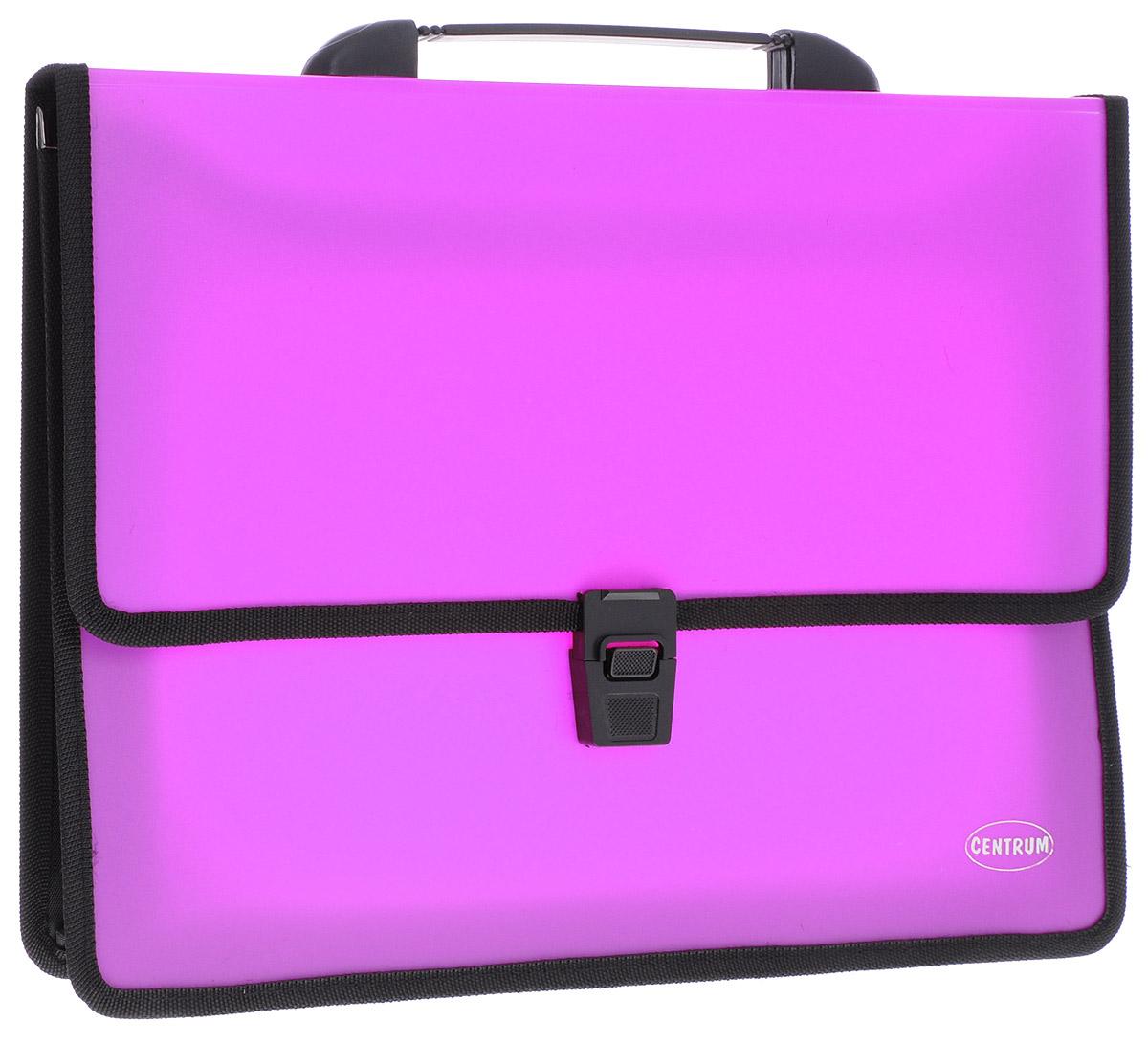 Centrum Папка-портфель 2 отделения с ручкой цвет фуксия цена и фото