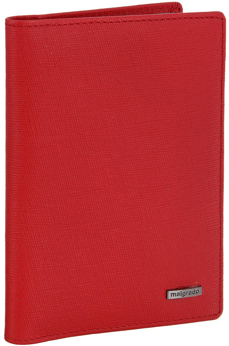 Обложка для паспорта женская Malgrado, цвет: красный. 54019-13801 обложка для паспорта malgrado цвет красный 54019 1 44