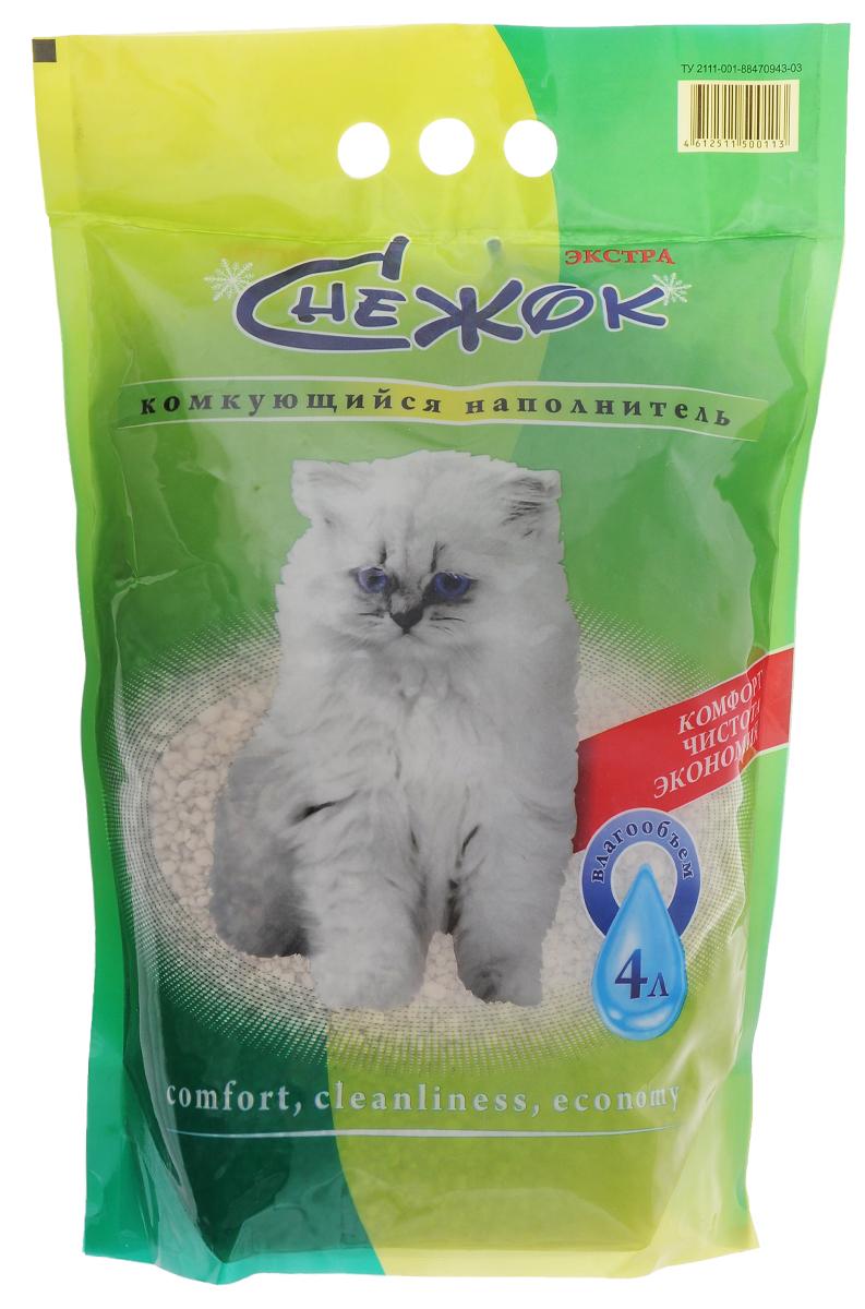 Фото - Наполнитель для кошачьего туалета Снежок Экстра, комкующийся, 4л дервиль ш снежок не хочет вставать с кроватки сказочная история