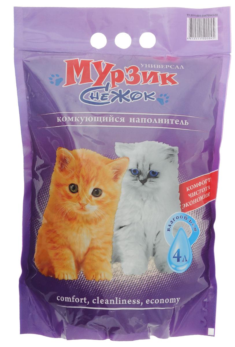 Наполнитель для кошачьего туалета Мурзик-Снежок