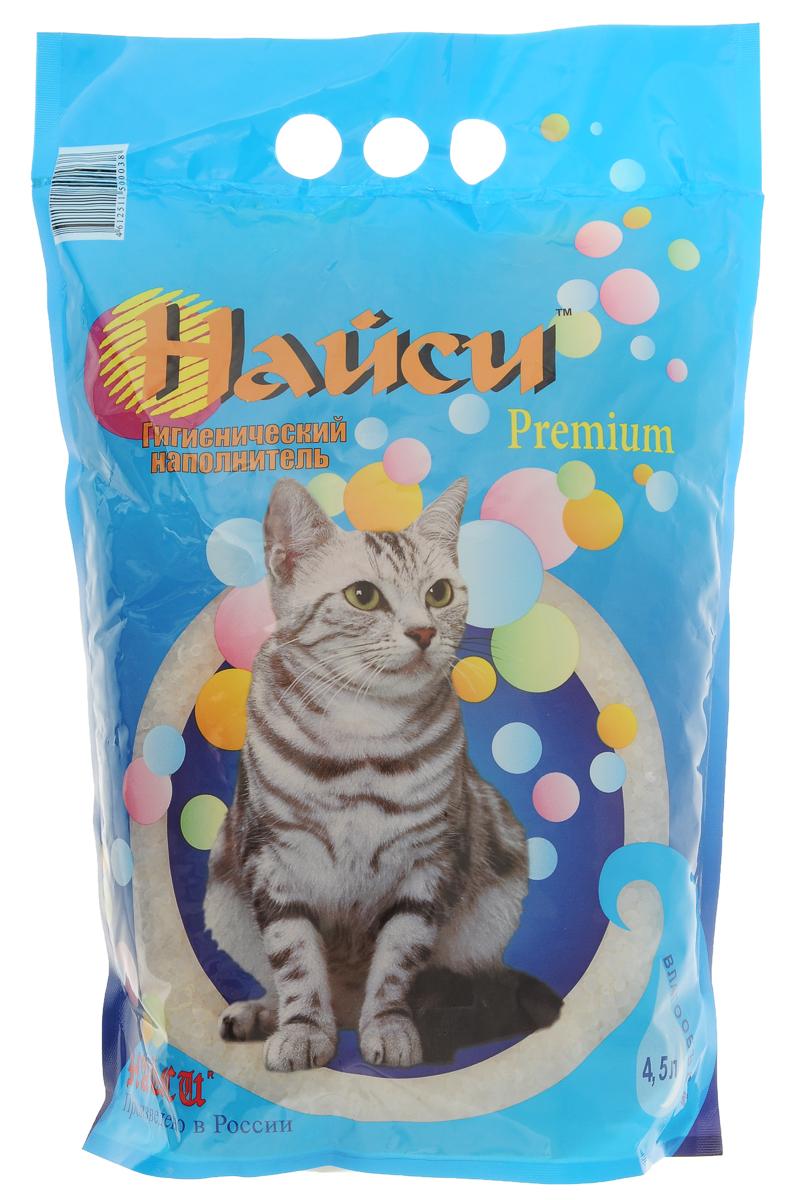 Наполнитель для кошачьего туалета Найси Premium, 4,5 л опилки для животных найси 15 л