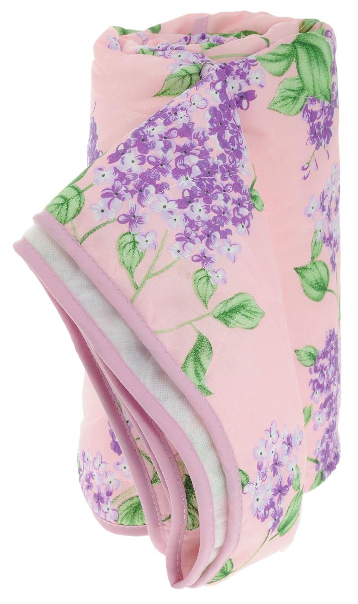 """Покрывало стеганое """"Сирень"""", цвет: розовый, 180 х 200 см"""