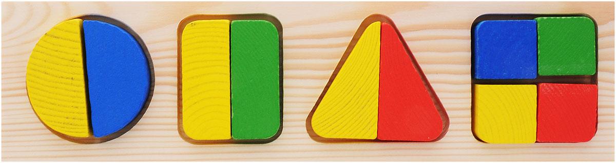 Пазл для малышей Томик Доска-вкладыш Геометрия Большая томик рамка вкладыш геометрия большая томик