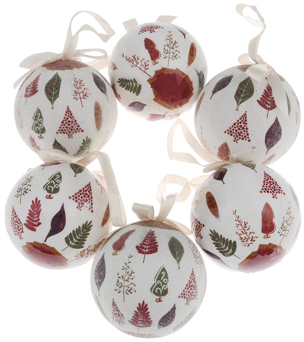Набор новогодних подвесных украшений Winter Wings Me to You, диаметр 7,5 см, 6 шт набор новогодних подвесных украшений winter wings шары цвет золотистый диаметр 6 см 12 шт