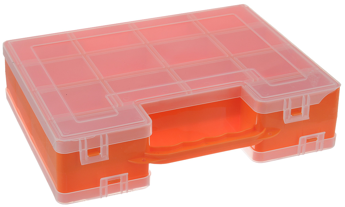 Органайзер для инструментов Idea, двухсторонний, цвет в ассортименте, 27,2 см х 21,7 см х 6,7 см органайзер кухонный idea цвет салатовый 19 х 25 х 14 5 см