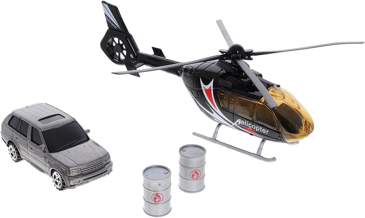 Фото - Big motors Набор игровой Вертолет и машинка big игровой набор big дорожные знаки 69 см 3 шт