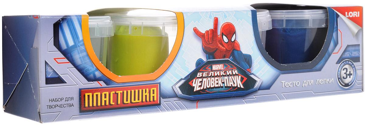 Lori Тесто для лепки Человек-паук 4 цвета играем вместе тесто для лепки принцессы дисней неоновое 4 цвета