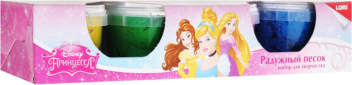 Lori Набор для детского творчества Радужный песок Принцессы Disney 4 цвета lori набор для детского творчества радужный песок принцессы disney 4 цвета