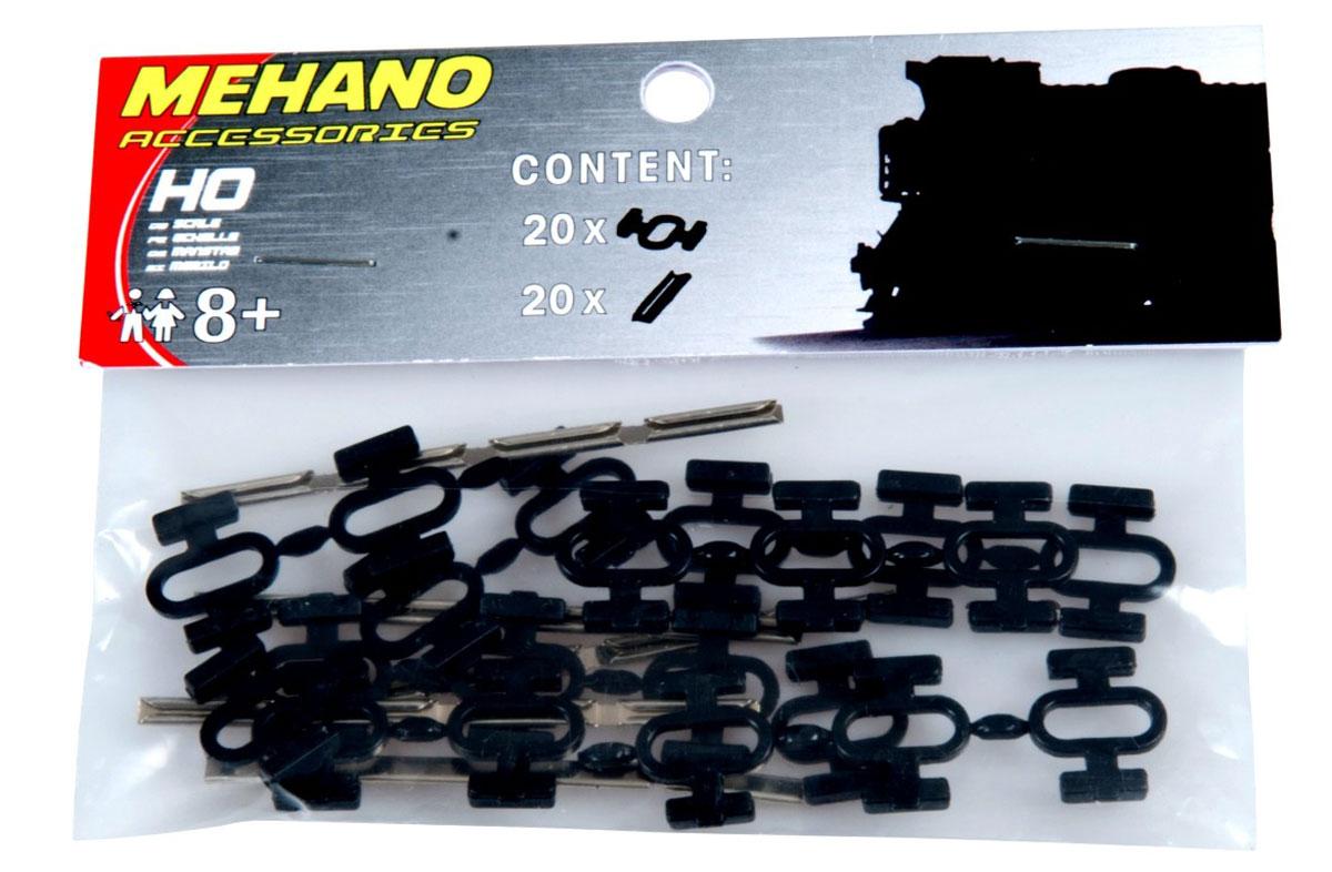 Mehano Клипсы соединительные для рельс (20+20 шт) игрушка mehano 1 f101 набор рельс