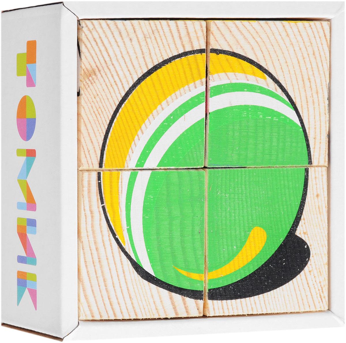 Томик Кубики Игрушки кубики русские деревянные игрушки транспорт 6 шт д488а