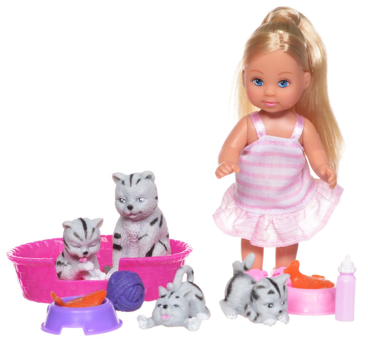 Simba Игровой набор с мини-куклой Еви с кошками simba игровой набор с куклой еви 9 предметов