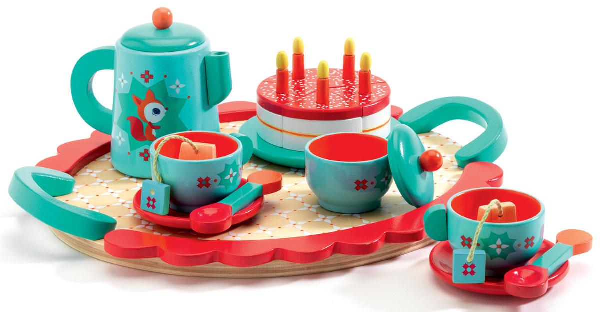 Djeco Игровой набор Чаепитие у Лисички игровой набор kidkraft праздничное чаепитие