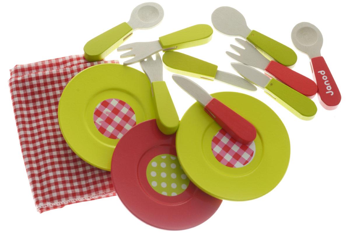 Janod Набор посуды Пикник 21 предмет