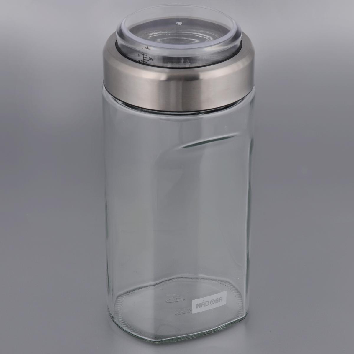 Емкость для сыпучих продуктов Nadoba Petra, с мерным стаканом, 1,55 л емкость для сыпучих продуктов с мерным стаканом nadoba otina