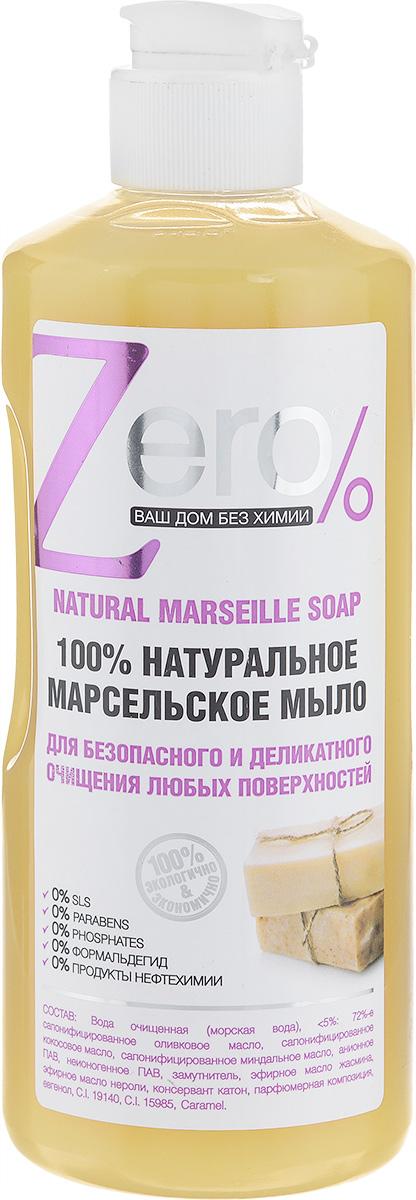 """Мыло для безопасного и деликатного очищения """"Zero"""", с оливой и кокосом, 500 мл"""