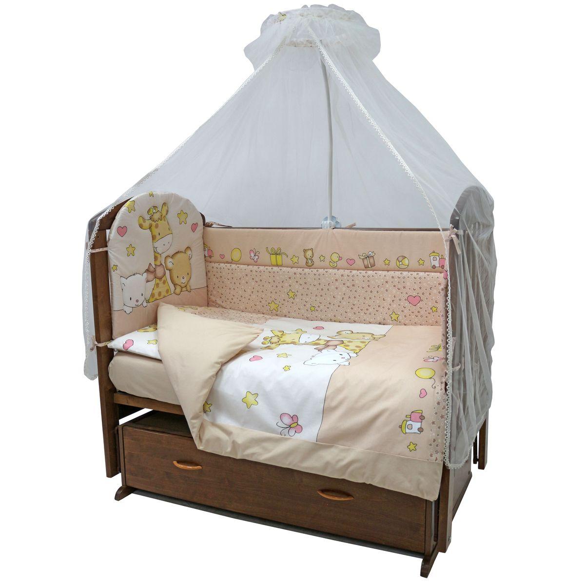 Топотушки Комплект детского постельного белья Детский Мир цвет бежевый 7 предметов