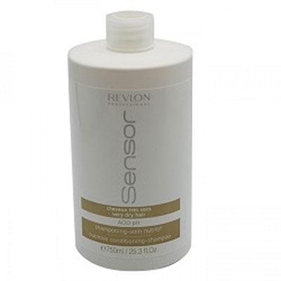Revlon Sensor Питательный шампунь-кондиционер для очень сухих волос (Коричневый) Nutritive Conditioning-Shampoo 750 мл шампунь для волос увлажняющий и питательный proyou nutritive shampoo 350мл revlon professional proyou