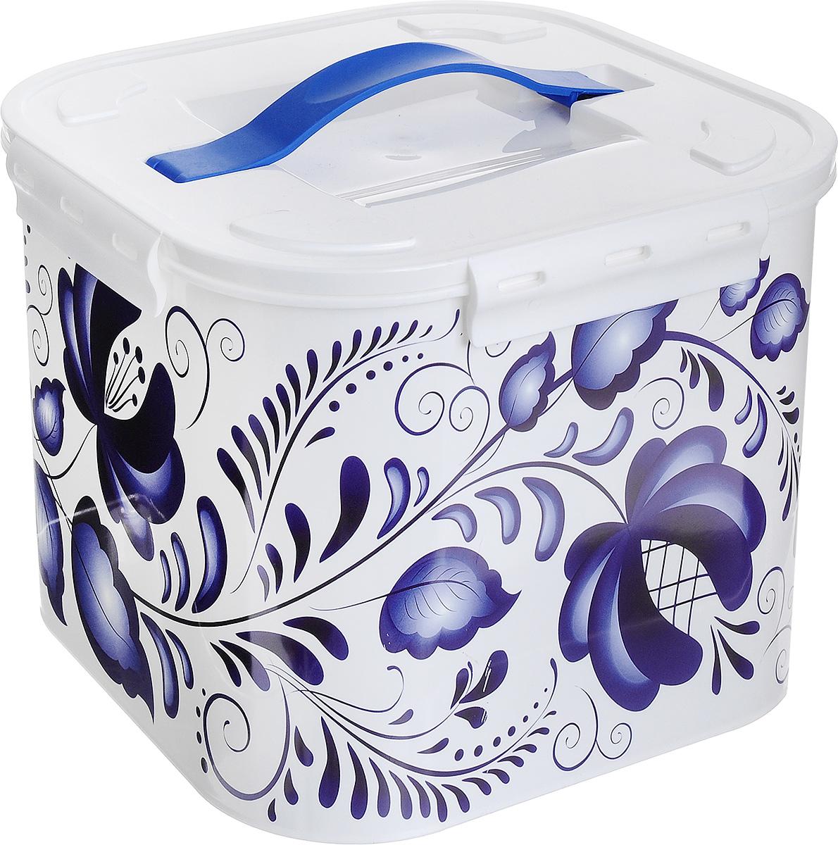 Контейнер для хранения Idea Гжель, 7 л ящики для игрушек альтернатива башпласт контейнер лапландия 7 л