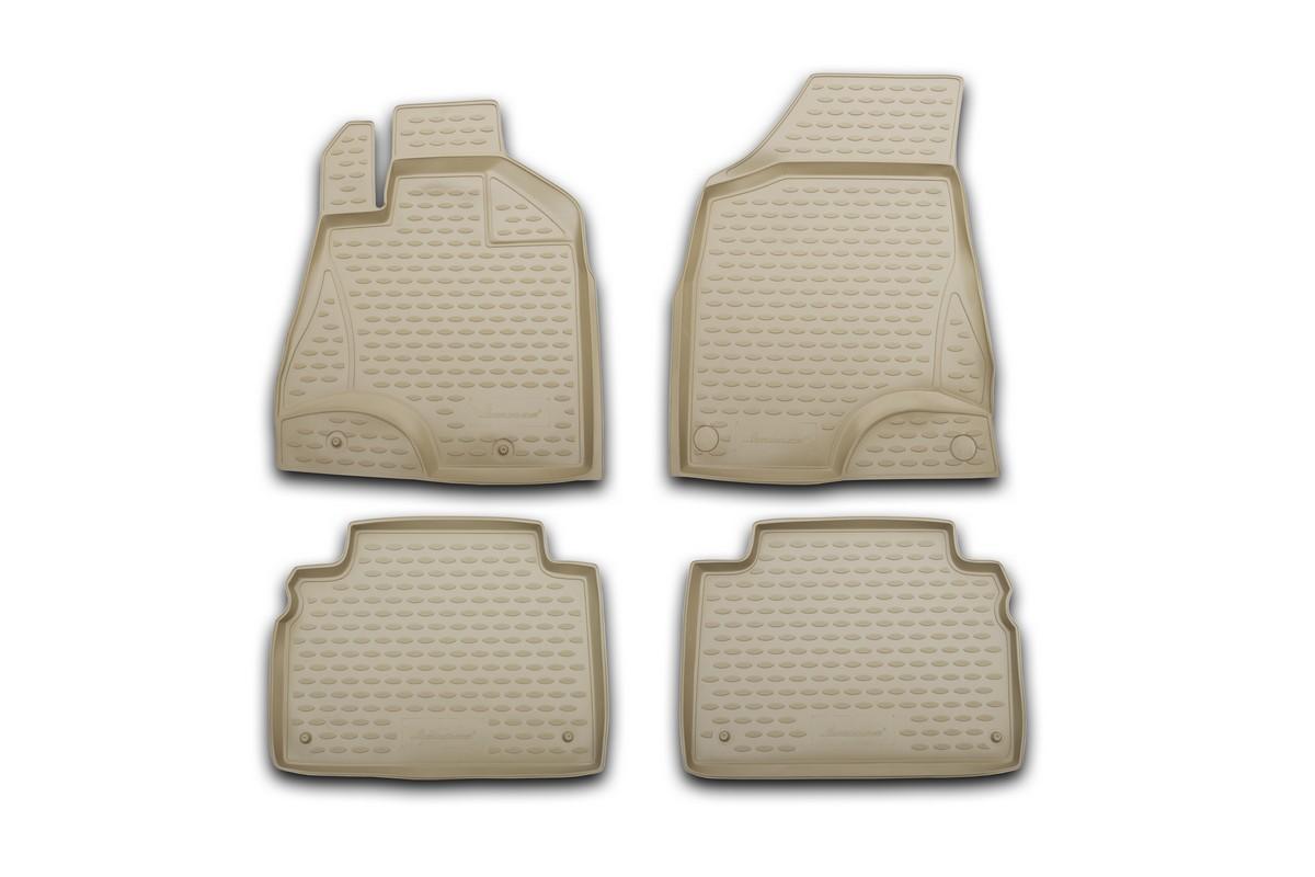 Набор автомобильных ковриков Element для Volkswagen Touareg 10/2002-2010, в салон, цвет: бежевый, 4 шт цены онлайн