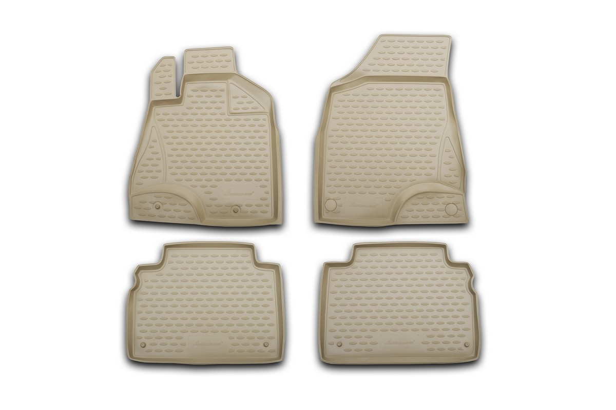 Набор автомобильных ковриков Element для SsangYong Kyron 2006-, в салон, цвет: бежевый, 4 шт набор автомобильных ковриков element для dodge caliber 2006 в салон цвет серый 4 шт