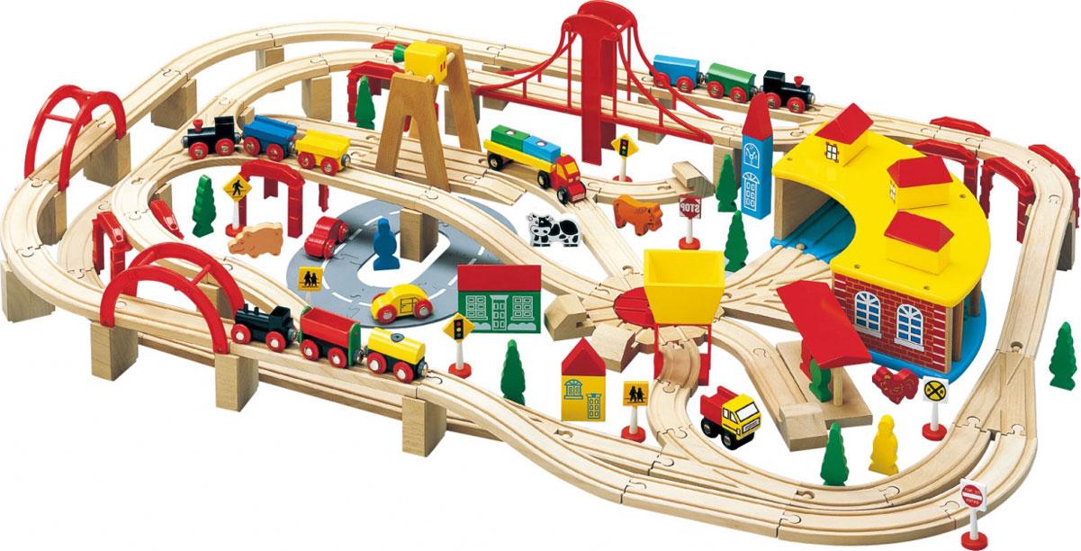 Balbi Деревянная железная дорога 145 деталей цены