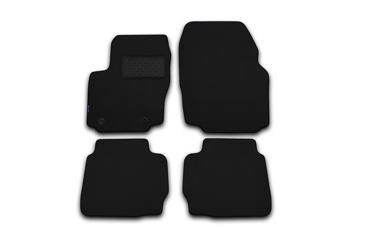 Набор автомобильных ковриков Klever для BMW 7L F01/F02 АКПП 2008-, седан, в салон, 4 шт комплект ковриков в салон автомобиля klever bmw x6 f16 2014 standard