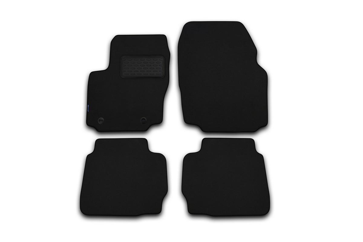 Набор автомобильных ковриков Klever для Jeep Wrangler 2D 2007-, внедорожник, в салон, цвет: черный, 4 шт