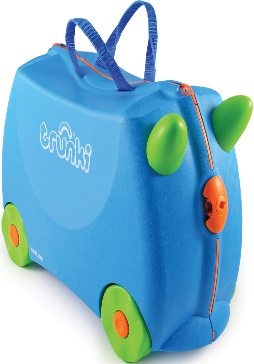 Trunki Чемодан-каталка цвет голубой салатовый детские чемоданы trunki детская каталка чемодан taxi tony тони таксист